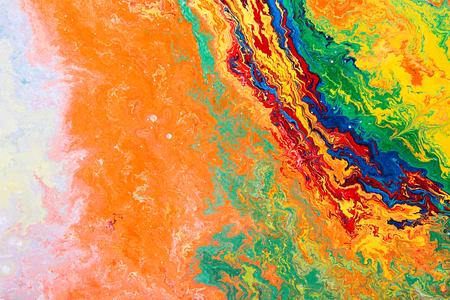 cuadros abstractos: Vista de detalle de una pintura al óleo sobre lienzo abstracto original.