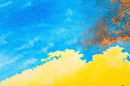arte moderno: Vista de detalle de una pintura al óleo sobre lienzo abstracto original.