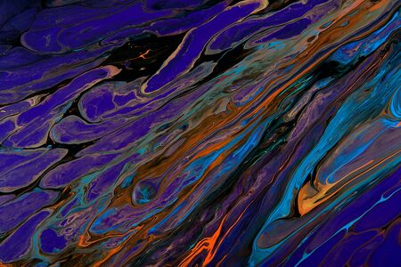 ar: Closeup view of an original painting. Hand painted abstract dark cosmic grunge background.  Modern futuristic template. Multicolored space texture with space for text or image. Fragment of artwork, modern art, contemporary art. Mixed media. Avant-garde ar Stock Photo