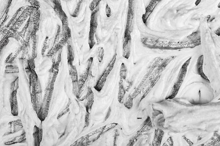 graphite: Closeup view of an original drawing. graphite pencil on acrylic paint. Hand painted abstract grunge background texture. Fragment of artwork, modern art, contemporary art. Mixed media. Avantgarde art.