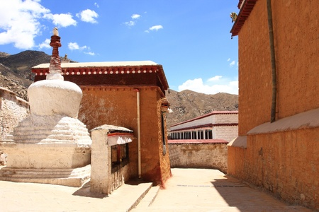 Building landmark in Tibetan photo