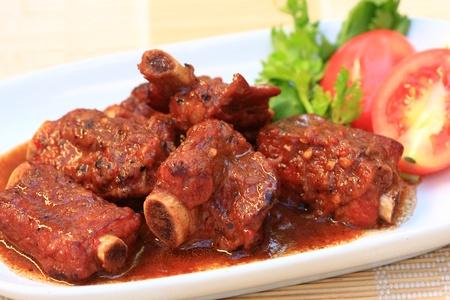 Pork rib roast with pepper sauce and honey  photo