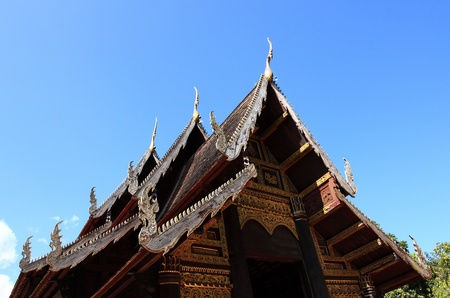phnom phen: Roof of temple puttha-erng style Lanna