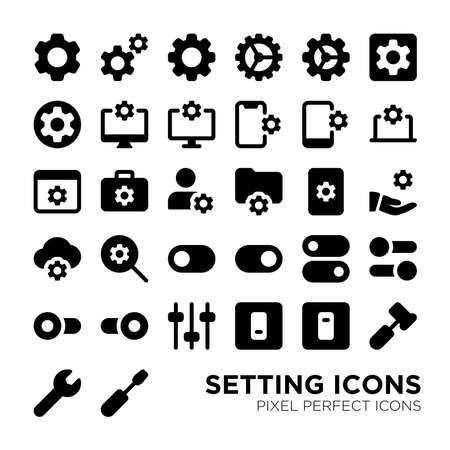 Basic Setting Pixel Perfect Icon