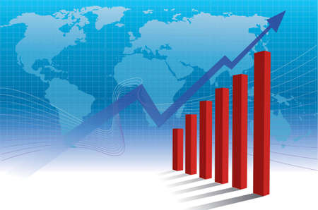 The world business benefit of graph Stock Photo - 1875233