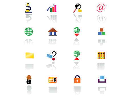 input output: Web icon set suitable to use any kind of website. Illustration
