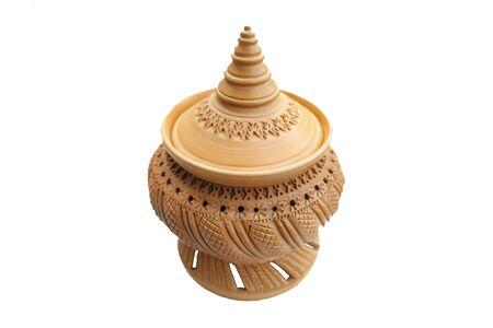 craving: Thai craving clay pottery white