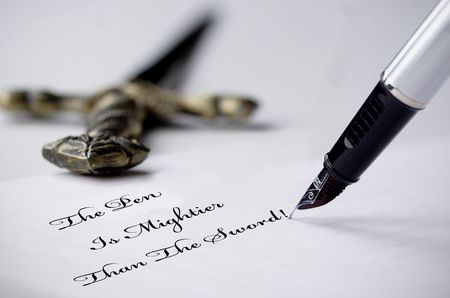 than: The pen is mightier than the sword