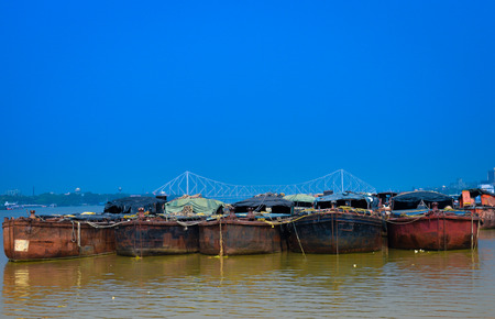 Fishing boats in hooghly river