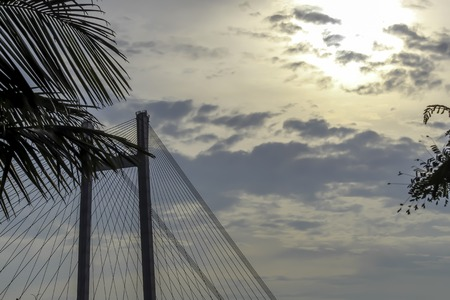 Second Howrah bridge - The historic cantilever bridge on the river Ganges. Stock Photo