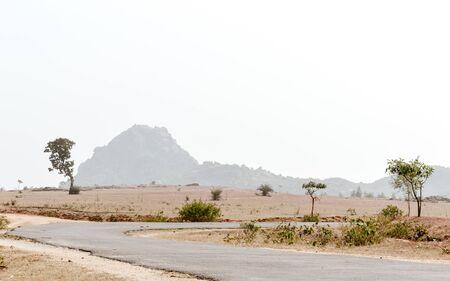 Dry hilly Semi-arid area of Chota Nagpur plateau of Jharkhand India