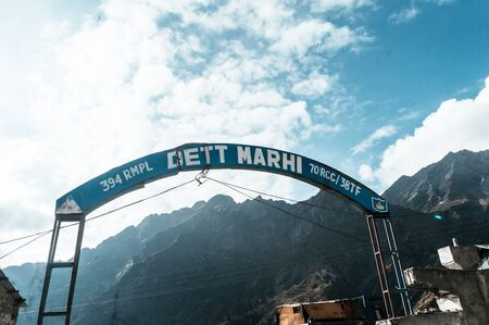 Marhi, Himachal Pradesh, India October 2019 - Marhi is a town of roadside restaurant located midway in Rohtang La on Manali-Leh Highway. Buses traveling highway often stop in this famous tourist halt Editorial