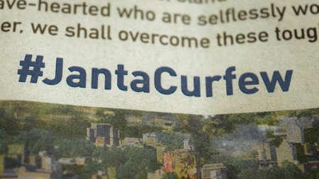 Janta Curfew (self-imposed People curfew) effort to combat deadly Coronavirus disease (COVID-19) pandemic outbreak to reduce community spread of coronavirus disease in India. Sunday, 22 March 2020