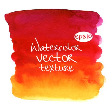 Abstract Aquarell Vektor texture.Hand gezogen Quadrat Farbe auf weißem Hintergrund Illustration
