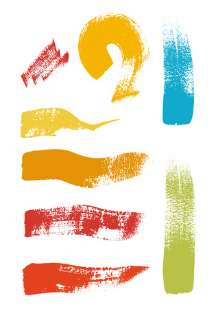 yellov: Grunge brush stroke vector set.Abstract texture with flat color Illustration