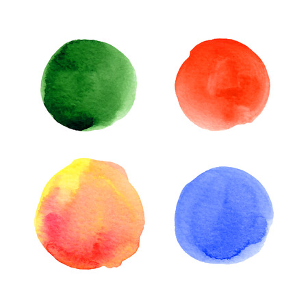 Watercolor hand drawn vector splashes set. Ilustracja
