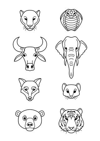 Animals in flat style. Ilustracja