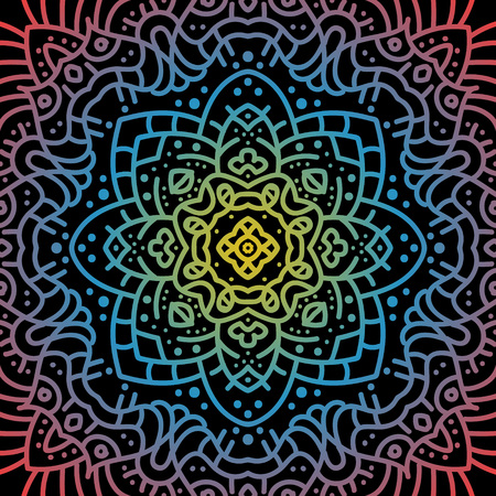 Alte geometrische Mandala Standard-Bild - 104012801