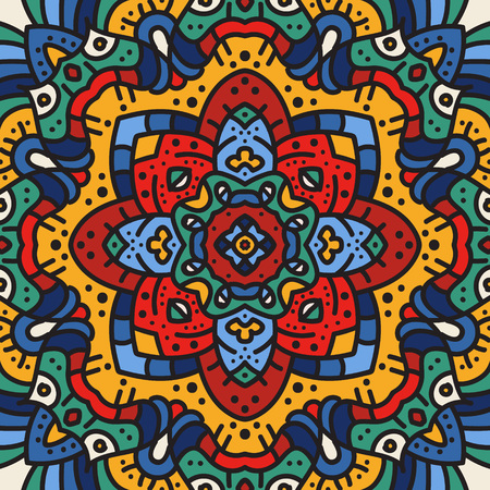 Alte geometrische Mandala Standard-Bild - 104012802