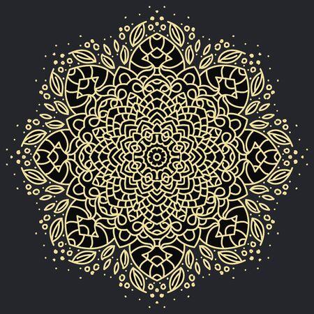Mandala geométrica antigua Ilustración de vector