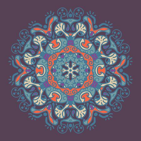 Ancient geometric mandala Ilustracja