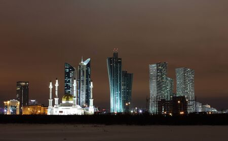 Astana City in night light