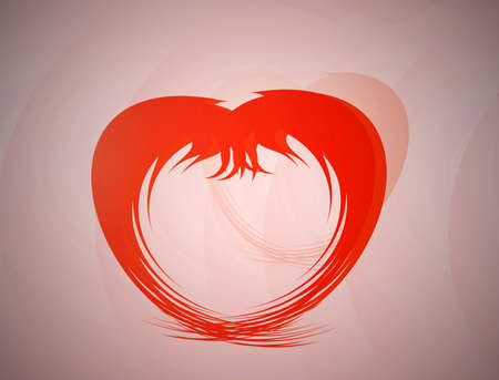 heart. Abstract illustration. illustration