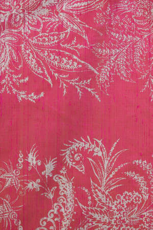 natural linen cloth with patterns and ornaments photo