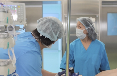 anesthesiologist assistant and spend narcosis Stock Photo