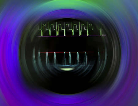 oscillate: Pulse Monitor. abstract stylized photo.
