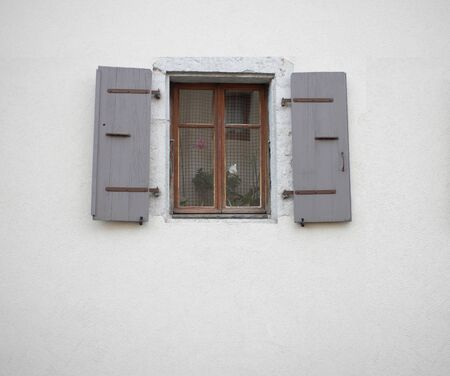 window with open shutters  photo  photo