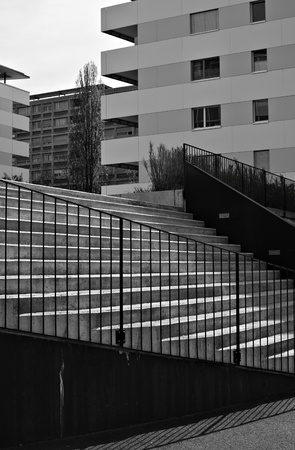 city symmetry  b   w photos Stock Photo - 13595501