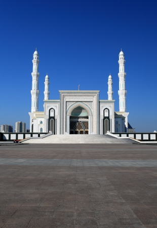 murals: New Mosque in capital of Kazakhstan, Astana  Hazrat Sultan, Hazret Sultan, Khazret Sultan