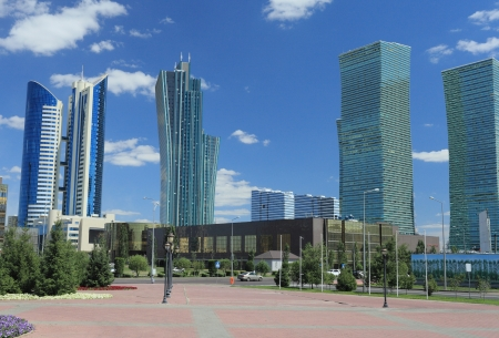 Astana, Kazakhstan  Business part of town  Editorial