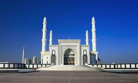 arnamentom: Mosque  Hazret Sultan  in the early morning hours  Astana  Kazakhstan