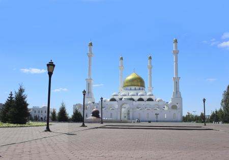 astana: Nur Astana  The beautiful mosque in city of Astana  Stock Photo