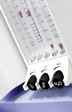 mechanical ventilation: rotameter modern medical apparatus  photos