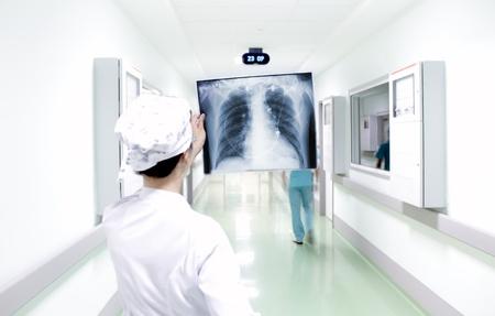 chest x ray: Interpretazione veloce di radiografia del torace in ospedale Archivio Fotografico
