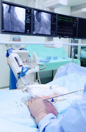 bioengineering: Surgeon at work in X-ray the operating room