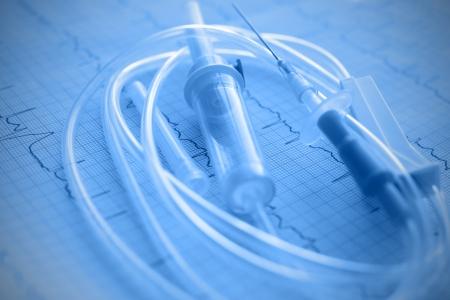 parenteral: Medical plastic intravenous system Stock Photo