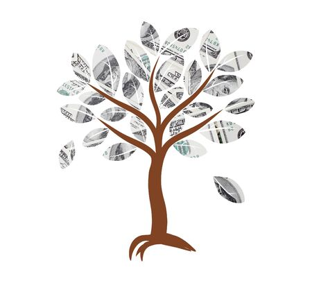 decision tree: Money tree  illustration