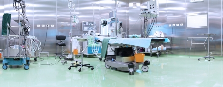 Modern operating room with advanced equipment photo