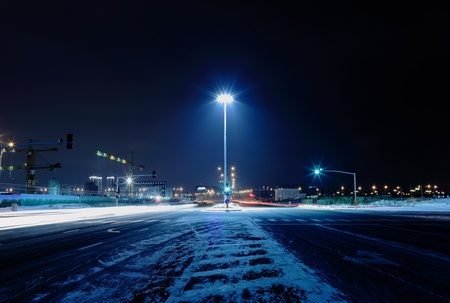 street night: Dark cold night street