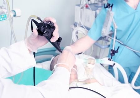 內鏡接待在醫院工作的醫療設備