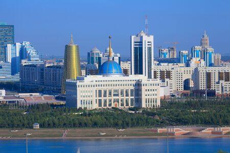 kazakhstan: Astana. The central part of the city. embankment Stock Photo