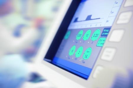 在醫院使用的科學裝置現代顯示器。醫藥科學