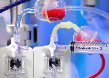 syringe and scientific equipment