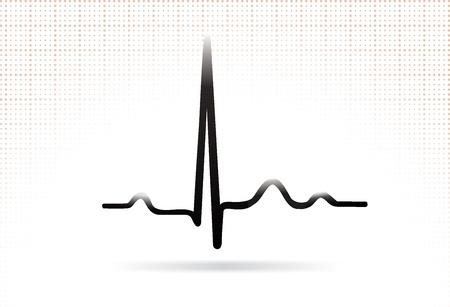 electrocardiograma: ECG complejo sinusal normal compleja icono Web Vectores