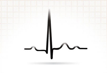 ECG complex  Normal sinus complex  Web icon  Vector