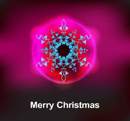 mid air: Navidad copo de nieve resumen ilustraci�n vectorial